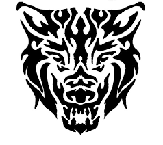 snarling tribal wolf by draikairion on deviantart