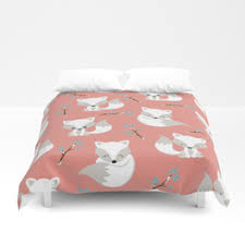foxes duvet covers society6