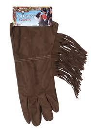 texas ranger halloween costume brown fringe cowboy gloves