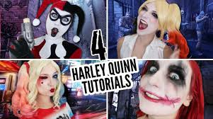the joker and harley quinn halloween costumes 4 harley quinn tutorials in 6 minutes youtube