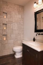 natural stone bathroom tile vertical mirror mix classic wood