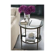 clairemont round side table forged steel steel frame and crates