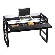 keyboard tray for glass desk crate barrel glass desk w slideout keyboard tray in lake view east