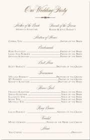 wedding program format wedding programs wedding program wording program sles program