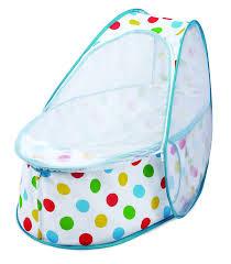 koo di 80 x 50 x 58 cm pop up travel bassinette polka dot