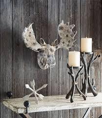 Moose Head Decor Recycled Wood Deer Head Wall Hanging Rustic Cabin Lodge Decor