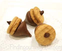 chocolate peanut butter acorns treats recipe finding our way now