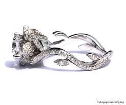 engagement rings flower design beautiful flower engagement ring my engagement ring baby