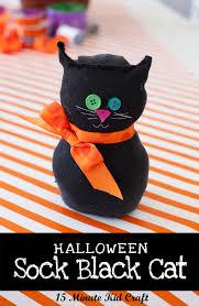 kids u0027 15 minute halloween craft black sock cat frog prince paperie