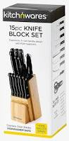 amazon com 15 piece knife set scissor included with wood
