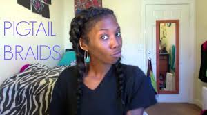 braided extensions two braid cornrow pigtails with clip in