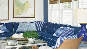 Nautical Sofa 40 Beautiful Beachy Living Rooms Coastal Living