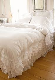 Queen Shabby Chic Bedding by Best 25 White Ruffle Bedding Ideas On Pinterest Lace Bedding