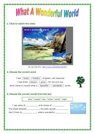 wonderful world interactive worksheet