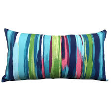 Lowes Allen And Roth Patio Furniture - shop allen roth blue and striped rectangular lumbar pillow