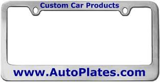 Custom Vanity Plate Custom License Plates And Personalized License Plate Frames