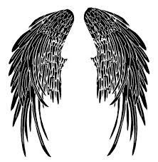 angel wings sketches clip art library