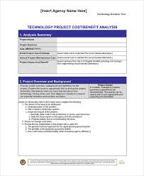 benefits analysis template cost benefit analysis template 40