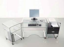 lovely glass top office desk with drawers fabulous home office