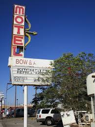 vintage deteriorating motel signage bow u0026 arrow motel y u2026 flickr