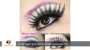 elegant lashes 301 thick long black human hair false eyelashes