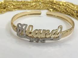 gold baby name bracelets baby personalized 14k gold plate any single plate adjustable name