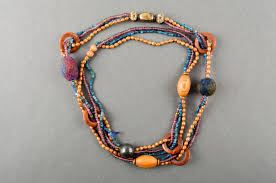 wood beads necklace designs images Comely unusual handmade beaded necklace bead necklace design jpg