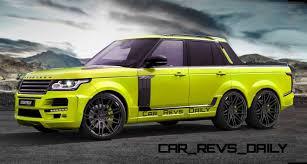 land rover pickup truck digital renderings startech range rover 6x6 long box pickup