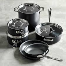 Non Stick Pan For Induction Cooktop All Clad Ns1 Nonstick Induction 10 Piece Cookware Set Williams