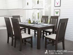 chocolate dining room table dandenong furniture packages chocolate brown b2c furniture