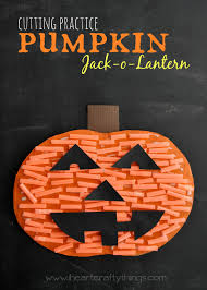 pumpkin cutting practice jack o lantern craft i heart crafty things