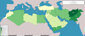 Middle Eastern Map Map Of The Literacy Rate In The Middle East Oc 2755x1173 Mapporn