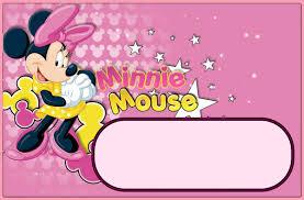 free printable minnie mouse invitation templates part 2