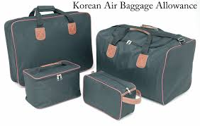 korean air baggage allowance 2012 international for all