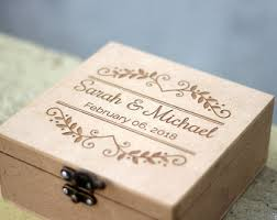 personalized wooden boxes engraved wood box etsy