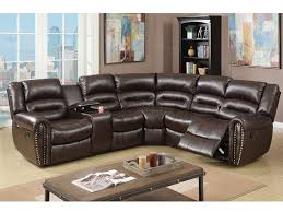 Leather Motion Sectional Sofa Brown Bonded Leather Motion Sectional Shop For Affordable Home