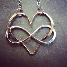 necklace love images Love is infinite a forged heart with an interlinked infinity