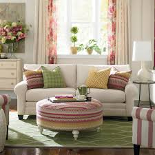 Living Room Curtains Cheap Living Room Chic Living Room Idea Using Cozy White Sofa And Round