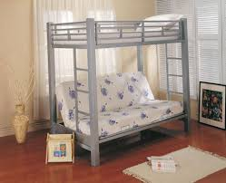 metal bunk bed with desk and futon home design ideas