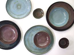stoneware dinnerware set in four colors stoneware dishes