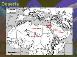 negev desert map middle eastern geography ppt