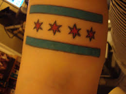chicago flag tat nofilter tattoo chicago flowers skyline