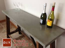diy concrete dining table cement table top attractive how to build a concrete for beginners