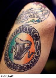 traditional irish celtic tattoo on biceps tattoobite com
