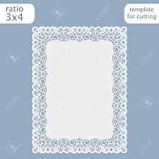 Borders For Wedding Invitation Cards Laser Cut Wedding Invitation Card Template With Openwork Border