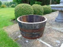 Half Barrel Planters oak tubs barrel planters