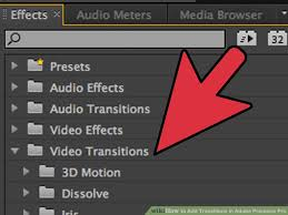 tutorial editing video di adobe premiere how to add transitions in adobe premiere pro 6 steps