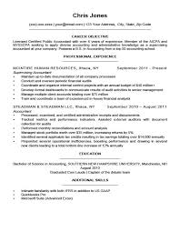 Sample Resume Of Accountant by Download Sample Resume With Objectives Haadyaooverbayresort Com