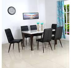 buy pratt 6 seater dining set home by nilkamal dark walnut