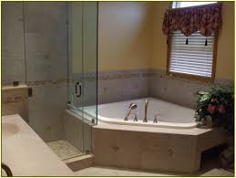 small corner bathtub with shower 141 bathroom photo with 1500